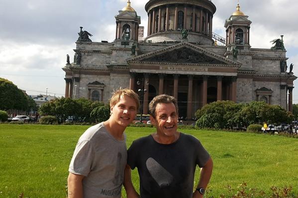 Юра встретился с Николя Саркози в Питере