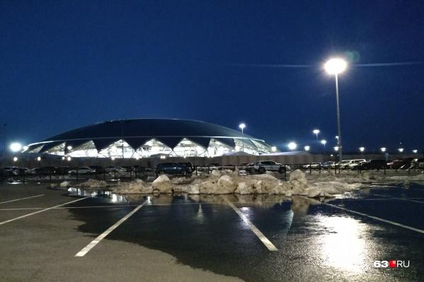 Сейчас территория около стадиона практически не используется