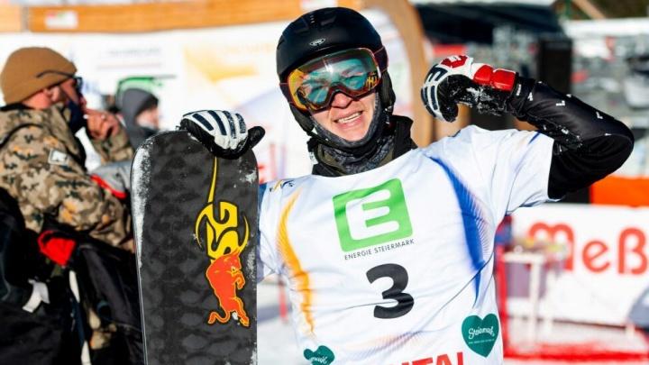 Сноубордист Дмитрий Логинов взял два золота на первенстве мира в Австрии