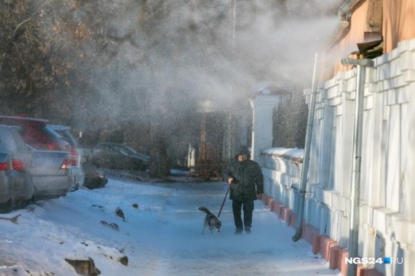 В Красноярске всю неделю дуют сильные ветра