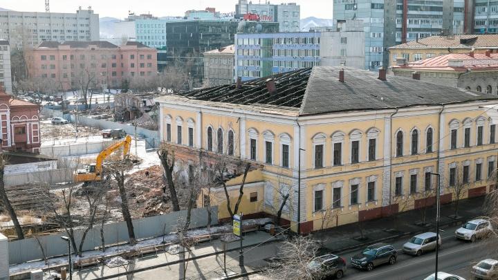 На Мира начали разбирать историческое здание