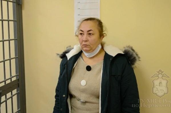 Одна из подозреваемых