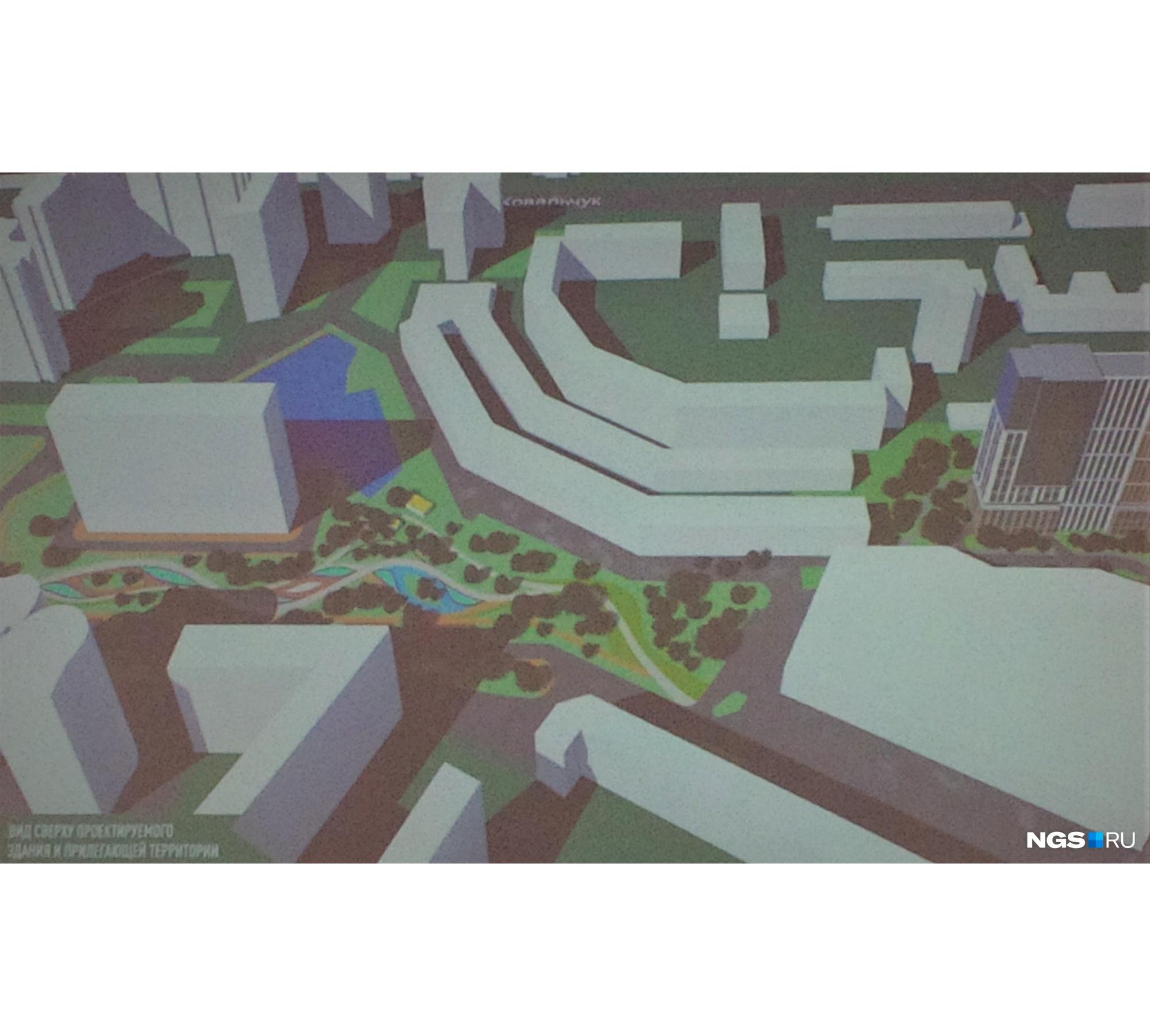 На сквер площадью около 2 га (сегодня это разрозненные участки) за зданием ТРЦ «Ройял Парк» потребуется примерно 250 миллионов