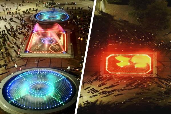 Красочные снимки завершающего шоу сделали с квадрокоптера