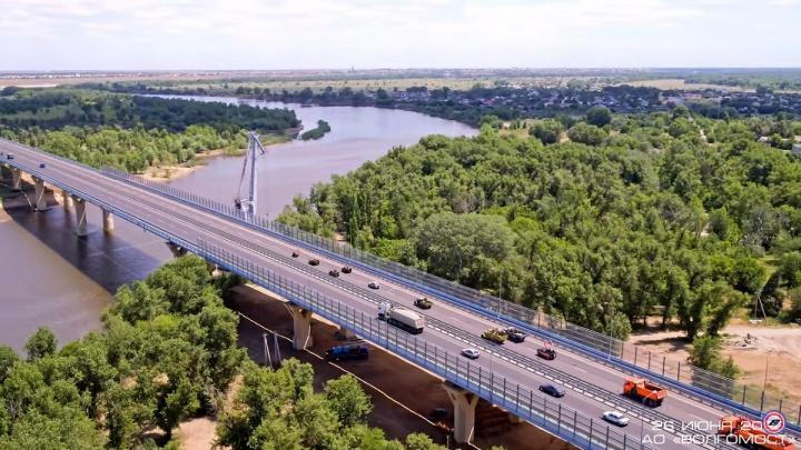 «Лобовые столкновения отменяются»: открытие моста через Ахтубу сняли с высоты птичьего полета