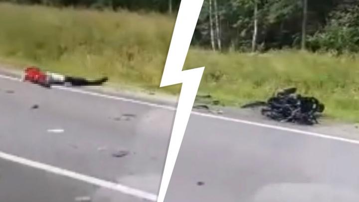 «Двигатель вырван»: в Ярославской области насмерть разбился мотоциклист