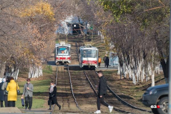 Сейчас трамваи не доезжают до северной окраины Самары