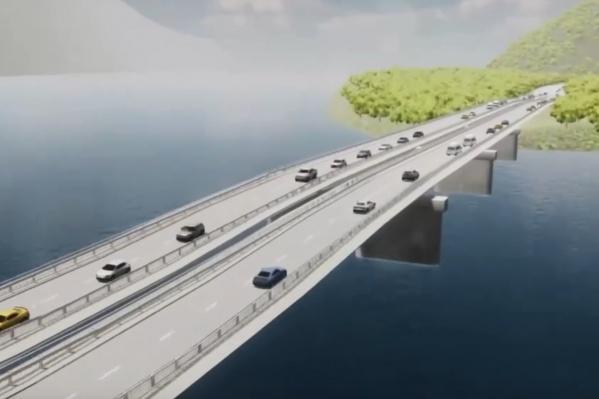 Новый и старый мосты будут параллельны друг другу