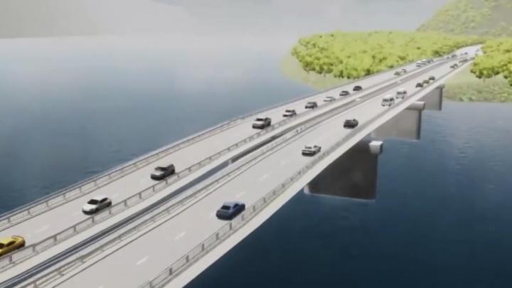 Видео: как будет выглядеть новый мост через реку Сок