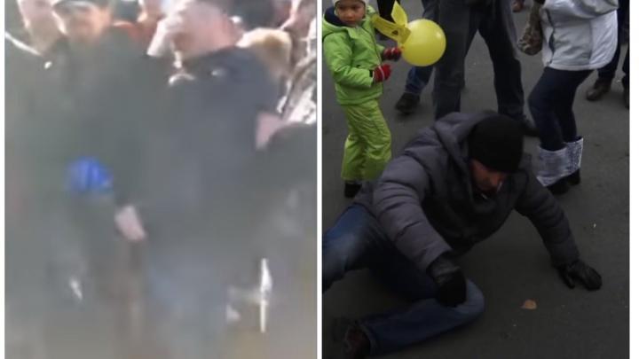 Отработанная схема: как активист Румянцев «падал» на митинге, защищая строителей ГОКа в Челябинске