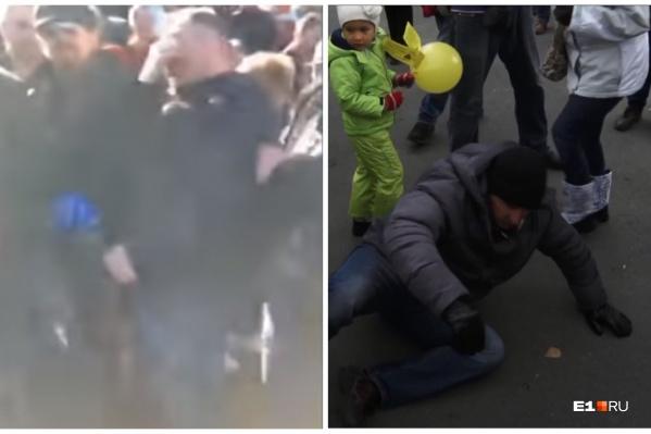 Оказывается, Румянцев не первый раз падает на митингах