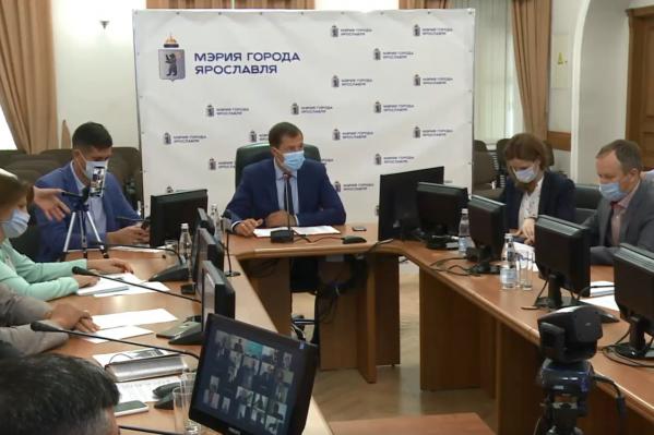 Сегодня мэр Ярославля Владимир Волков сам провёл общегородское заседание