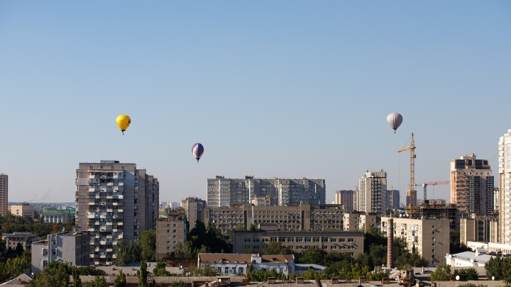 Аэростаты над Ростовом: десять кадров воздушной регаты