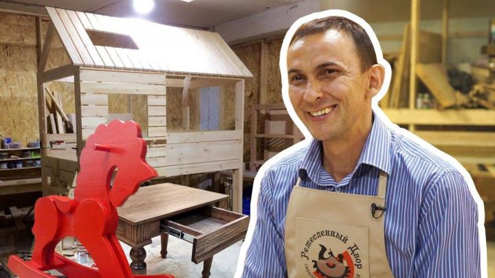 «Даже беременные за станки встают»: менеджер из Екатеринбурга бросил работу, чтобы открыть столярный коворкинг