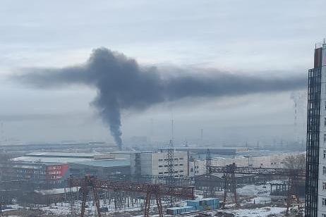 Небо над Красноярском снова заволокло дымом