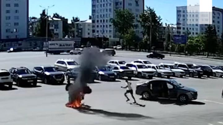 В Башкирии мужчина пытался покончить с собой перед зданием администрации