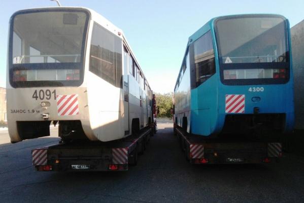 Трамвайные вагоны ожидают ремонта