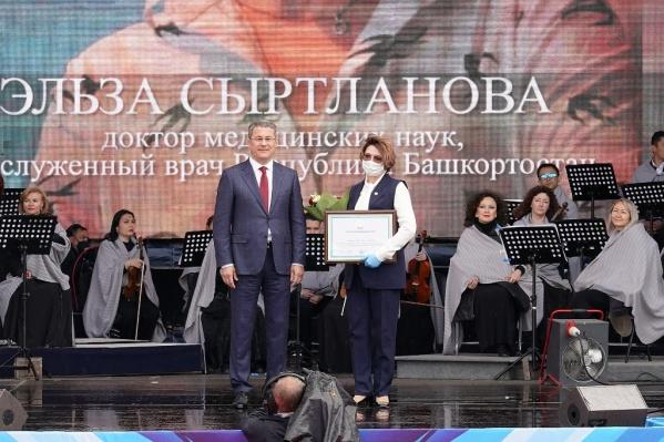 Труд Сыртлановой высоко оценил глава Башкирии Хабиров