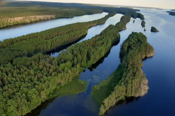 Вид на заливы Онежского озера