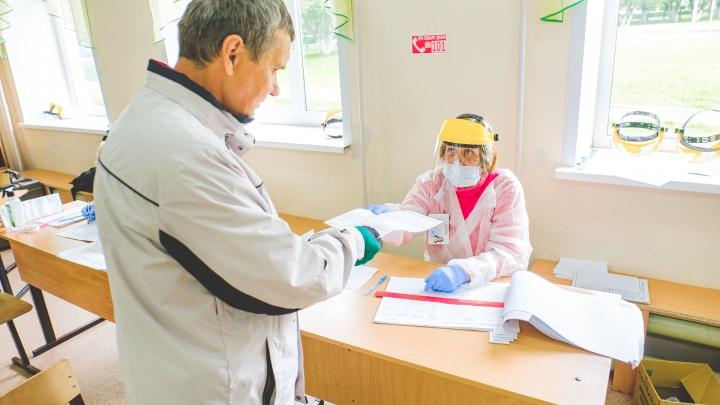 Проверяют температуру и выдают СИЗы. Как в Перми проходит голосование по поправкам к Конституции. Фоторепортаж