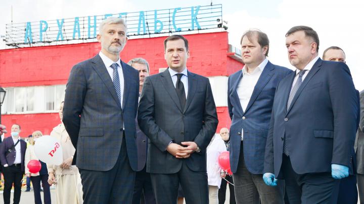 Министр транспорта России Евгений Дитрих приехал в Архангельск