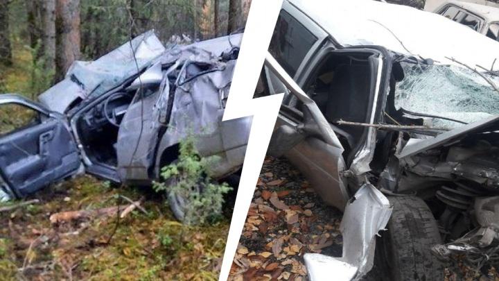 На Урале ВАЗ улетел с дороги и врезался в дерево: в аварии серьезно пострадал 20-летний парень
