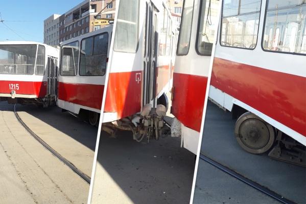 Из-за происшествия движение трамваев пришлось приостановить