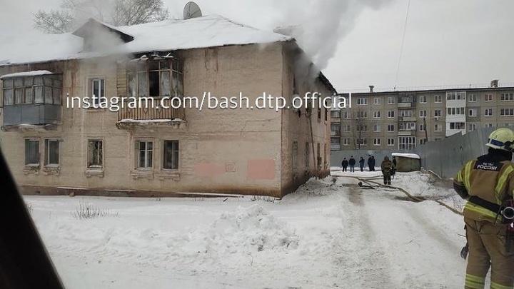 В Уфе при пожаре в жилом доме погиб мужчина, 10 человек эвакуировано