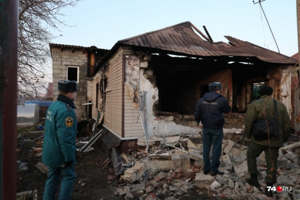 В доме были установлены газовый котел и плита