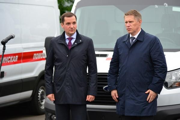 Александр Цыбульский на встрече с министром здравоохранения Михаилом Мурашко