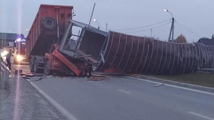Трассу М-5 из Челябинска в Екатеринбург перекрыли из-за обрушения моста