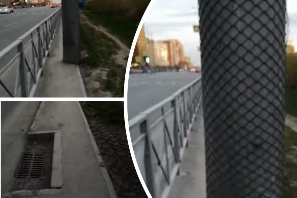 Найден, возможно, самый узкий в Тюмени тротуар