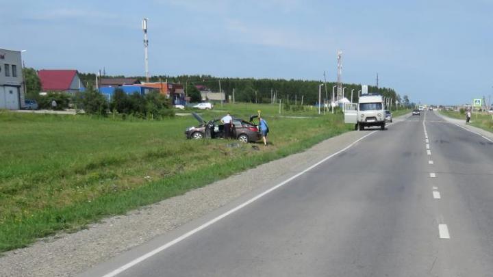 В одиночном ДТП на трассе в Кузбассе пострадал ребёнок. Ремень безопасности не помог