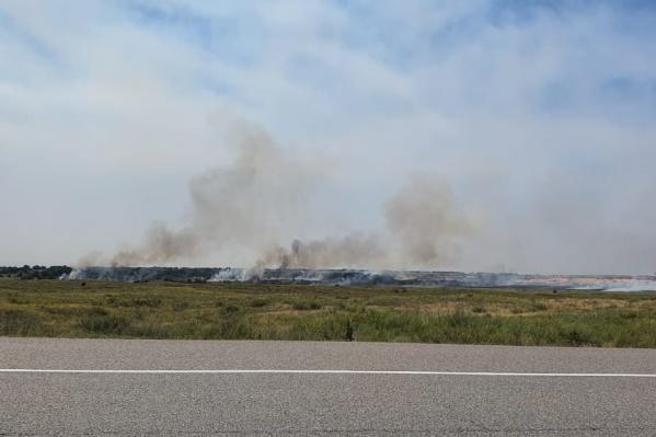 Столбы дыма видны за несколько километров