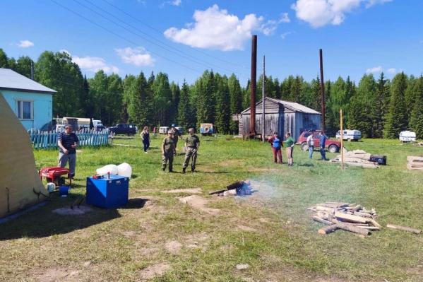 Оперативный штаб в поселке Лель