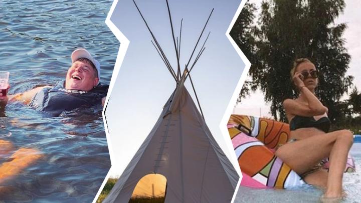Озеро, бассейн и вигвам: смотрим, как нижегородцы спасаются от жары