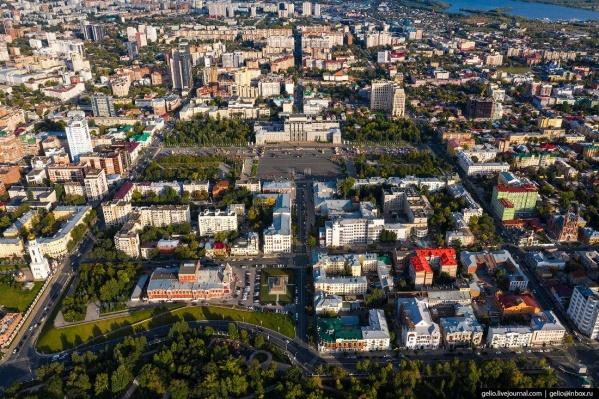 Площадь Куйбышева и близлежащие кварталы