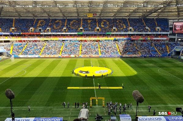 Состояние газона перед матчем «Ростов» — ЦСКА оставляло желать лучшего