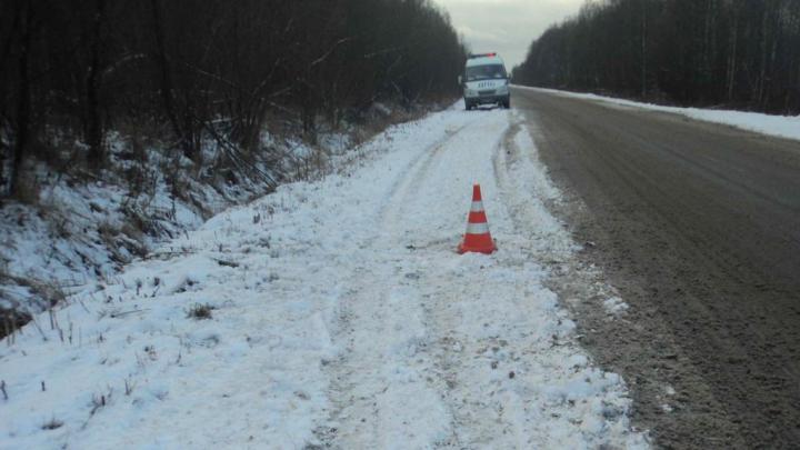 Шел по обочине: по дороге к Нефтебазе иномарка насмерть сбила пешехода