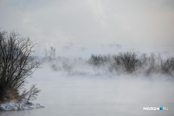 В Красноярске морозы продержатся около недели