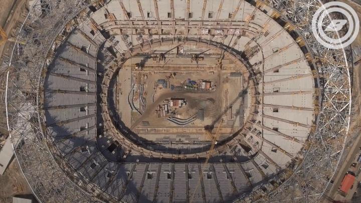 Строительство «Волгоград Арены» снимали четыре с половиной года и показали за 50секунд