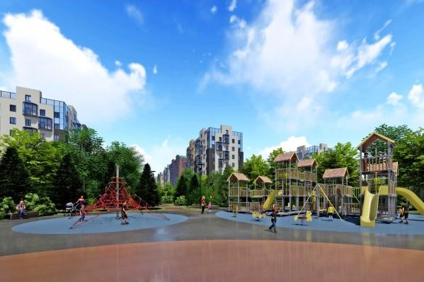 Планируется, что скоро в Северодвинске появится новый квартал с детским садом и парк