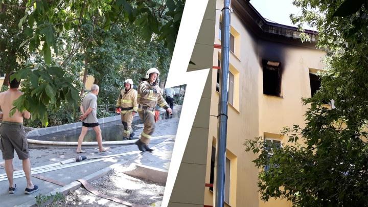 «Открыл дверь — там столб дыма»: очевидцы рассказали о пожаре в доме на Красноармейской