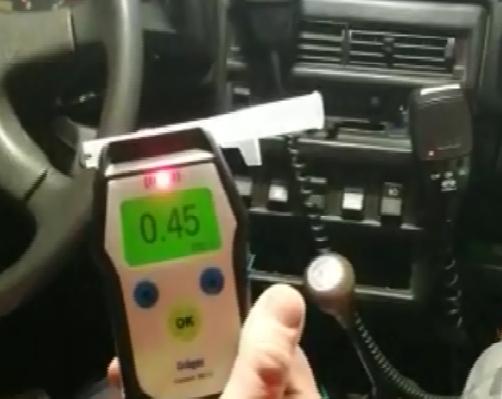 Прибор подтвердил опьянение у водителя