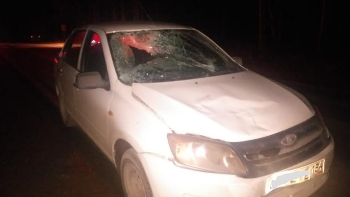 Водитель Lada Granta насмерть сбил новосибирца, который шёл по Дачному шоссе