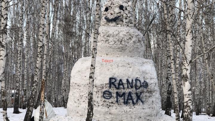 Школьники из Бородино 25 дней лепили 6-метрового снеговика