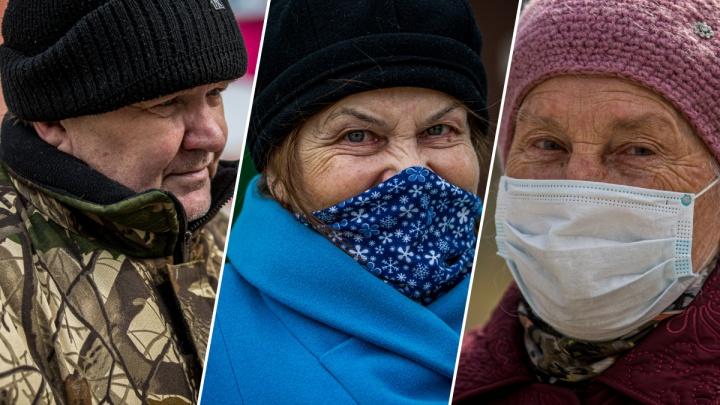 «Мне до лампочки»: 10 пенсионеров на улицах рассказали, куда и зачем они идут и не боятся ли заболеть