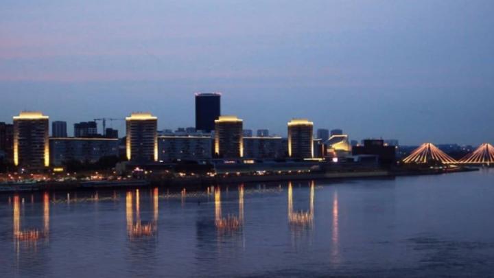 Мэр показал, как будет выглядеть «речной фасад» с подсветкой