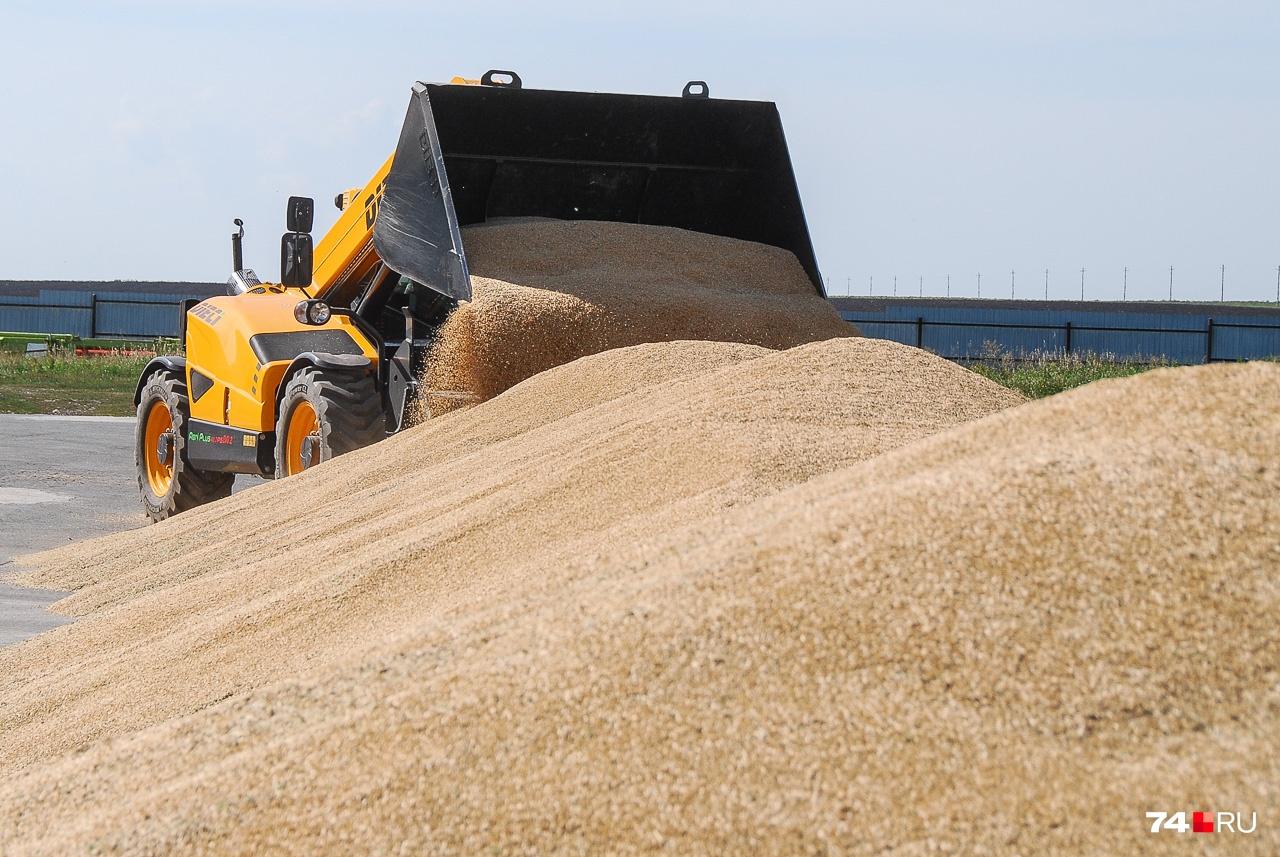 Для работы с зерном есть специальный погрузчик