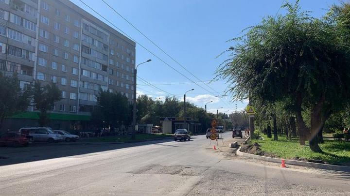 Власти пообещали отремонтировать улицу Тельмана до конца ноября